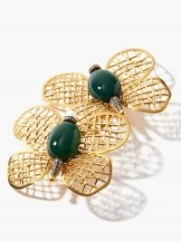BEGUM KHAN Magic Butterfly 24kt gold-plated clip earrings ~ butterflies ~ insect jewellery