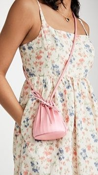 Mansur Gavriel Baby Pleated Bucket Bag / mini pink crossbody bags