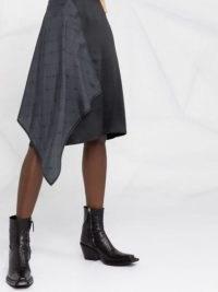 Marine Serre asymmetrical silk skirt | draped skirts