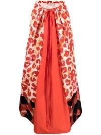 Marni leopard-print midi skirt