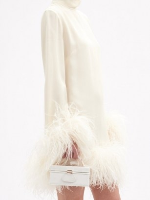 BIENEN-DAVIS Matchbox faille top-handle box bag – small luxe occasion bags - flipped