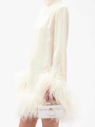BIENEN-DAVIS Matchbox faille top-handle box bag – small luxe occasion bags