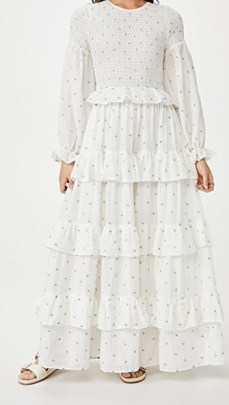 Meadows Rosa Maxi Dress Daisy Embroidery - flipped