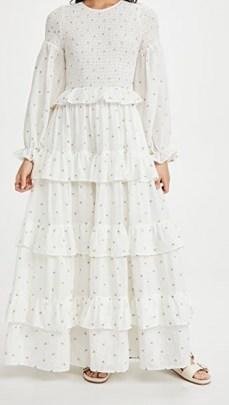 Meadows Rosa Maxi Dress Daisy Embroidery