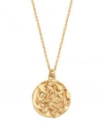 ALIGHIERI Sagittarius gold-plated necklace – zodiac pendants – coin style pendant necklaces