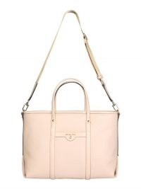 MICHAEL BY MICHAEL KORS MEDIUM HAMMERED PINK-LEATHER BECK TOTE BAG