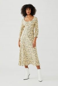 GHOST TANDY DRESS Rose Ditsy / floral midi dresses