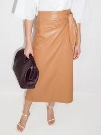 Nanushka Amas faux-leather wrap skirt | chic skirts