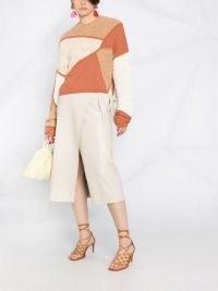 Nanushka long-sleeved colour block jumper / side slit colourblock sweater