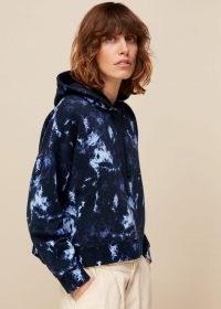 WHISTLES TIE DYE HOODIE / navy blue pullover hoodies