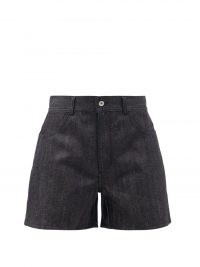 JIL SANDER Wide-leg selvedge-denim shorts