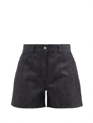 JIL SANDER Wide-leg selvedge-denim shorts - flipped