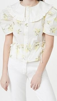 Naya Rea Emily Blouse – romantic floral blouses – frill trim oversized collars