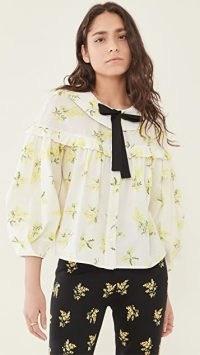 Naya Rea Sofia Blouse White/Yellow floral