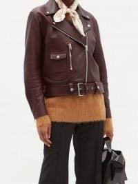 ACNE STUDIOS New Merlyn leather biker jacket ~ classic casual jackets