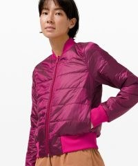 lululemon Non Stop Bomber Ripened Rasperry ~ pink reversable sports jackets ~ sportswear