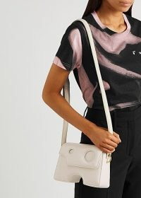 OFF-WHITE Burrow 22 off-white leather cross-body bag – crossbody bags with cut out details