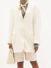 ACNE STUDIOS Oversized single-breasted ramie jacket ~ women's summer jackets