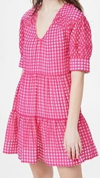 Tanya Taylor Cayla Dress / pink checked dresses