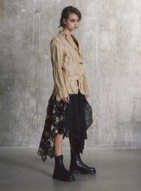 WEN PAN PALE GOLD LAYERED & DISTRESSED BLAZER ~ contemporary jackets at YBD