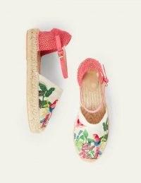 Boden Peggy Espadrilles Lollipop Parrot | summer ankle strap flats