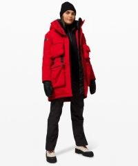 lululemon Polar Shield Parka ~ red outdoor sports coats ~ walking outerwear
