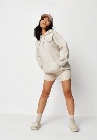 princes trust x missguided sand international women's day hoodie ~ kangaroo pocket pullover slogan hoodies