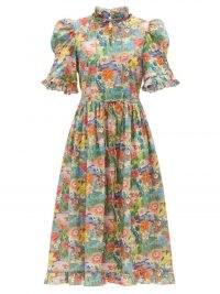 HORROR VACUI Leandra floral-print cotton-poplin dress
