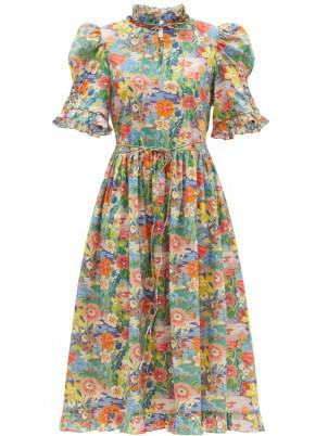 HORROR VACUI Leandra floral-print cotton-poplin dress - flipped
