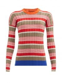 COLVILLE Striped cotton-blend ribbed sweater | slim fit sweaters