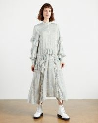TED BAKER AFISI Printed midi dress ~ floaty frill trimmed dresses