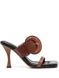 Proenza Schouler buckled 100mm slip-on sandals ~ buckle detail mules