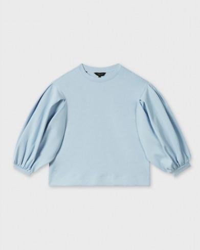 TED BAKER IRISSA Puff sleeve sweat pale blue - flipped
