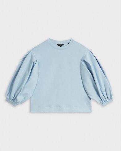 TED BAKER IRISSA Puff sleeve sweat pale blue