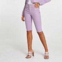 RIVER ISLAND Purple denim cycling shorts