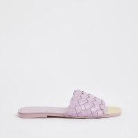 River Island Purple woven flat sandal | summer slides