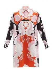 VALENTINO Arazzo-print cotton-poplin shirt dress   bold retro prints