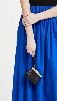Reike Nen Micro Mini Bag – petite black leather vintage style bags – tiny handbags