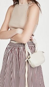 Reike Nen Twisty Bag – small white leather twisted handle bags