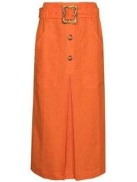 Rejina Pyo Tasmin high-waist skirt / orange skirts