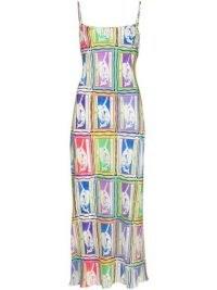 Rixo Holly Mermaid silk midi dress / strappy summer dresses / mermaids