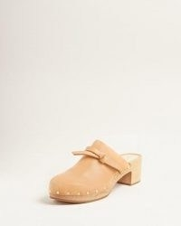 LOEFFLER RANDALL Roberta Honey Low Clog / luxe studded clogs