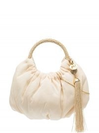 Rosantica Croissant cotton shoulder bag / small top handle gathered bags