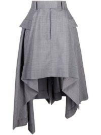 Sacai high-low asymmetric skirt | grey contemporary skirts
