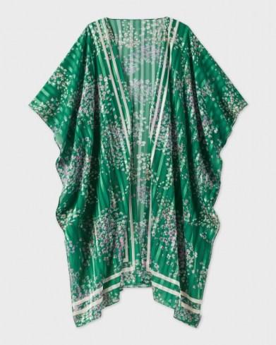 TED BAKER SYNOLA Serendipity Kimono / green floral kimonos - flipped
