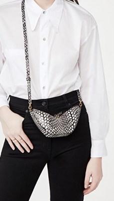 S.Joon Tulip Bag – black and white snake effect crossbody - flipped
