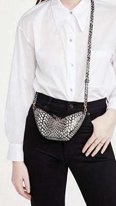 S.Joon Tulip Bag – black and white snake effect crossbody