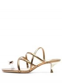 Sophia Webster Bijou strappy sandals ~ glamorous kitten heels