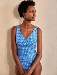 BODEN Talamanca Swimsuit New Blu China, Pineapple / blue fruit print swimsuits / women's swimwear