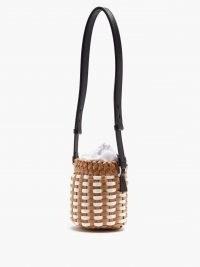 MAISON MARGIELA 5AC mini woven faux-leather bucket bag
